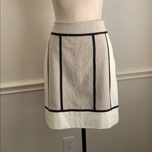 Ann Taylor Skirt Black and White